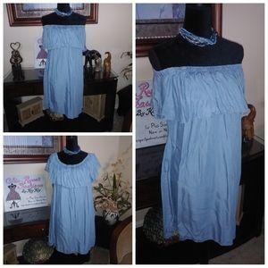 💥CLEARANCE💥  Chambray Convertible Dress